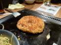 20100421の夕食。京都駅近くのどんぐり。お好み焼き系。