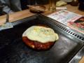 20100421の夕食。京都駅近くのどんぐり。お好み焼きイタリアン。