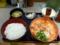 20100426の夕食。祭太鼓。トマト親子丼セット。