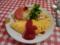 20100428の夕食。ネスパ。オムレツ。