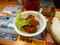 20100506の夕食。マドラス。ダブルチキンカレーの唐揚げ。