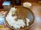 20100506の夕食。マドラス。ダブルチキンカレー。