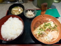 20100614の夕食。祭太鼓。味噌カツチーズ丼。