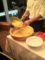 20101124の夕食。ワンサカンサ。チーズのリゾット。