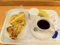 20101201の朝食。ヴィドフランス。ミックスピザ、クロックムッシュ、も
