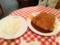 20110105の夕食。ネスパ。トンカツセット。
