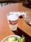 20110108の昼食。Rosso。カルピスソーダ。