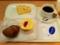 20110121の朝食。ヴィドフランス。クロックムッシュ、カリカリカレーパ