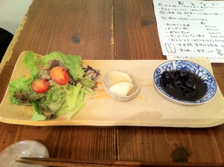 20110122の夕食。トアル食堂。サラダ。