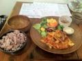 20110129の夕食。トアル食堂。豚キムチ。