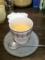 20110211の夕食。トアル食堂。加賀棒茶のブランマンジェ。
