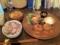20110211の夕食。トアル食堂。メンチカツ。