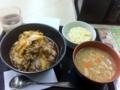 20110304の夕食。吉野屋。牛キムチクッパ、コールスロー、豚汁。