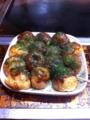 20110418の夕食。なかむら。たこやき。