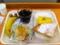 20110614の朝食。ヴィドフランス。クロックムッシュ、アップルケーキト
