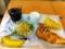 20110615の朝食。ヴィドフランス。ふんわりパンピザ、クロックムッシュ
