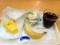 20110617の朝食。ヴィドフランス。クロックムッシュ、アップルケーキト