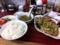 20110619の夕食。来夢来人。野菜炒め定食。