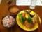 20110623の食事。トアル食堂。ハンバーグおろしポン酢。