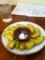 20110625の夕食。トアル食堂。アボガドの天ぷら。