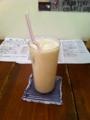 20110625の夕食。トアル食堂。バナナジュース。