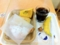 20110715の朝食。ヴィドフランス。アップルケーキトライアングルと塩パ