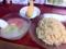 20110713の夕食。来夢来人。フルーツつけ麺。