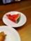 20110718の夕食。トアル食堂。スイカ。
