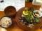 20110727の夕食。トアル食堂。黒胡麻の豚しゃぶ。