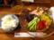 20110728の夕食。JR京都伊勢丹の拉麺小路、宝屋。ごはんと冷やし中華。