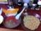 20110802の夕食。来夢来人。フルーツつけ麺。