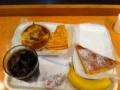 20110802の朝食。ヴィドフランス。アップルケーキトライアングル、クロ