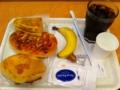 20110822の朝食。ヴィドフランス。クロックムッシュ、ピリ辛チョリソー