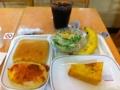 20110823の朝食。ヴィドフランス。塩パン、クロックムッシュ、バナナ、