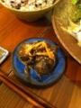 20110831の夕食。トアル食堂。きゅうりの漬け物。