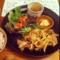 20111005の夕食。トアル食堂。鹿児島豚の生姜焼き。