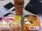 20111005の朝食。オレンジジュース、ベーグル、たまごぱっく。