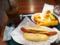 20111006の朝食。Pronto。アイスコーヒー、パン、ホットドッグ。