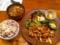 20111008の夕食。トアル食堂。国産もち豚バラ肉としめじのマーマレード
