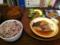 20111015の夕食。トアル食堂。ハマチの煮付け。