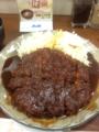 20111115の夕食。矢場とん。わらじとんかつ。