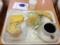 20111121の朝食。ヴィドフランス。オニオン&ウインナーチーズ、クロッ