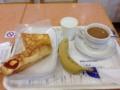 20120201の朝食。ヴィドフランス。たまごブレッド、クロックムッシュ。