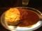 20120228の食事。カレーコンドル。カレー+トンカツ+スクランブルエッ