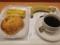 20120302の朝食。ヴィドフランス。クロックムッシュ、塩だれチキンパン