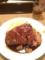 20120310の食事。大阪トンテキ。大トンテキ定食。