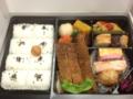 20120328の夕食。名駅まんぷく弁当。