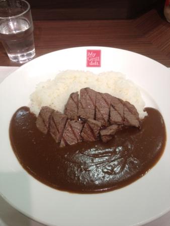 20120409の夕食。マイグリルデリ。ビーフカレー。
