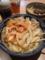 20120410の夕食。釜たけうどん。キムラ君。