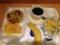 20120411の朝食。ヴィドフランス。15種のサラダと照り焼き鶏、クロック